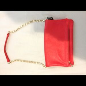 Red express purse clutch nwt
